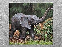 IDYL Bronze-Skulptur Kleine Elefant H. 66 cm  