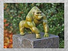 IDYL Bronze-Skulptur Kleiner Moderner Gorilla |