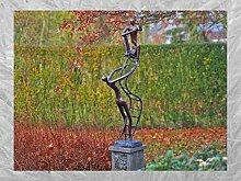 IDYL Bronze-Skulptur Zwei Männer auf Leiter |