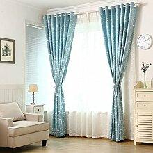 Idyllische kleine frische Sonnenschutz Vorhang/Blackout Vorhänge Wohnzimmer Schlafzimmer Studie-B 200x270cm(79x106inch)