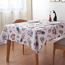 Idyllische Tischdecke mit Blumenmuster, Polyester,
