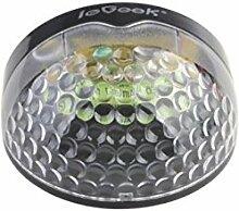 ieGeek Outdoor halbkreis Solarlampe Solarleuchte ABS Leitplanke 6 LED-Lichte Dämmerungsschalter / Sicherheit IP65 wasserdichte drahtlose für Zaun / Wand im Garten (1 Stück, Schwarz)