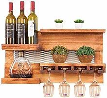 IF.HLMF Weinherstellung Wand Holz Weinregal mit