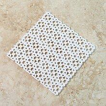 ifee Duschmatte rutschfeste Massage-Matte, wasserdicht, mit antibakterieller Saugnäpfe (5Stück), weiß, 20*30cm