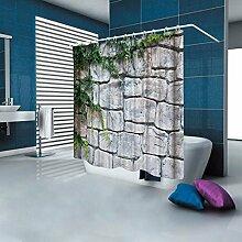 ifee Wasserdicht Badezimmer Duschvorhang Antik