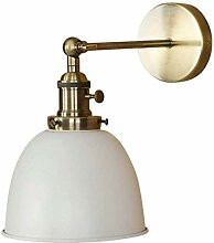 IFSA Vintage Wandlampe, Industrial Retro White