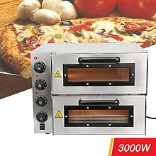 Iglobalbuy 3000W Pizzaofen Eletro-Pizzabackofen