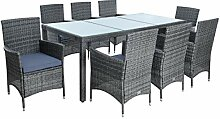 IHD Polyrattan Sitzgruppe Gartenmöbel Set 8