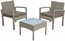 IHD Polyrattan Sitzgruppe Rattan Gartenmöbel Set
