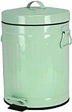 iHouse 5L Retro Farbe Pedal Mülleimer- Grün