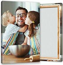 Ihr Foto auf Leinwand 70x120 cm Hochformat.