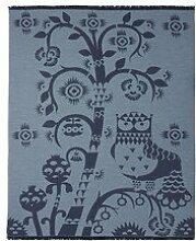 Iittala 1009135 Taika Wolldecke, Schurwolle, blau,