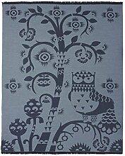 Iittala 1009135 Taika Wolldecke, Schurwolle, blau, 130 x 180 x 2 cm