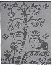 Iittala 1009136 Taika Wolldecke, Schurwolle, grau, 130 x 180 x 2 cm