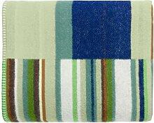 Iittala 1016075 Origo Wolldecke, Schurwolle, grün, 130 x 180 x 2 cm