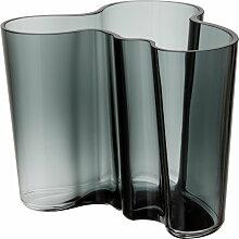Iittala - Aalto Vase Savoy 120mm, dunkelgrau