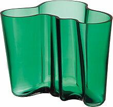Iittala - Aalto Vase Savoy 160 mm, smaragdgrün