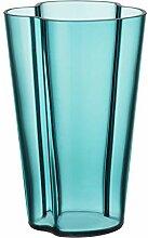 Iittala Alvar Aalto Vase, Glas, Seeblau, 220 mm