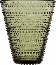 Iittala - Kastehelmi Vase 154 mm, moosgrün