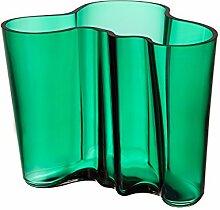 Iittala Vase Alvar Aalto Emerald-Grün (16cm)