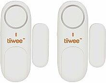 iiwee Fensteralarm Türalarm 120 dB Einbruchschutz - 2er Set mit Batterien