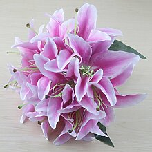 IIWOJ Künstliche Blume Lilie Blume Brautstrauß