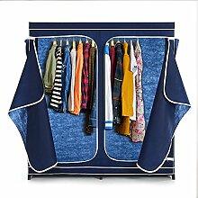 IKAYAA Faltschrank Stoffschrank Kleiderschrank mit 2 Kleiderstange 18 Taschen 160 x 150 x 50cm INS21038