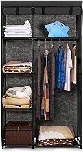 IKAYAA Faltschrank Stoffschrank Kleiderschrank mit Kleiderstange 160 x 90 x 45cm INS20489