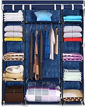 IKAYAA Faltschrank Stoffschrank Kleiderschrank mit Kleiderstange 170 x 132 x 45cm INS20651