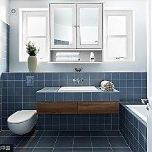 IKAYAA Spiegelschrank Badhängeschrank mit 2