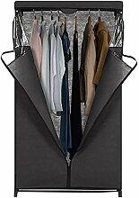 IKAYAA Stoffschrank Faltschrank Kleiderschrank mit Kleiderstange 162 x 91.5 x 50cm INS20080