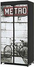 iKayaa Stoffschrank Faltschrank Kleiderschrank mit Kleiderstange 60 x 75 x 45cm