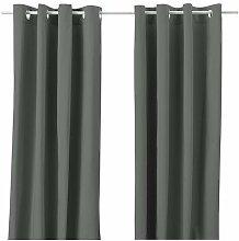 Ikea 102.568.49 MERETE Gardinenpaar in grau