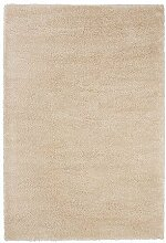 Ikea ADUM-Teppich, Hochflor, Creme-133x