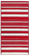 IKEA ALSLEV -Flachgewebte Teppich rot / weiß -