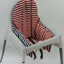 IKEA ANTILOP Hochstuhl Kissen & Bezug, wendbar mit 2Farben Rot oder Blau (Modell: PYTTIG) Originalverpackung