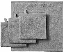 IKEA ASIA Kornan Waschlappen, Grau, 30 x 30 cm, 4