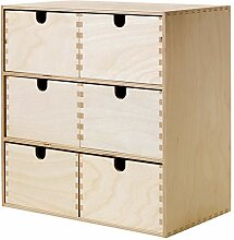 IKEA ASIA MOPPE Mini Kommode aus Birkensperrholz