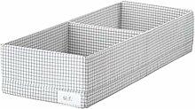 IKEA ASIA STUK Box mit Fächern weiß grau