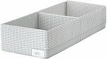 Ikea Asien STUK Box mit Fächern, weiß/Grau