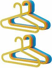 Ikea BAGIS Kinder-Kleiderbügel, Pastellfarben, 16