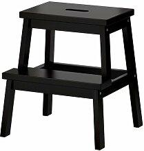 Ikea BEKVÄM Tritthocker in Schwarz; aus massiver
