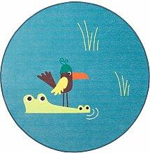 IKEA Djungelskog Teppich Flachgewebe Bird Blue