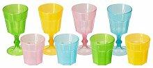 Ikea DUKTIG-Glas, Multicolor/8Stück
