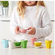 Ikea DUKTIG -10-Teiliges Kaffee/Tee-Set Mehrfarbig