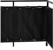 Ikea DYNING Sichtschutz für Balkon; in schwarz;