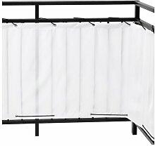 Ikea DYNING Sichtschutz für Balkon; in weiß;