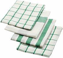 IKEA ELLY - Geschirrtuch, weiß, grün / 4 pack /