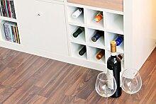 Ikea Expedit Kallax Regal Einsatz für 9 Flaschen