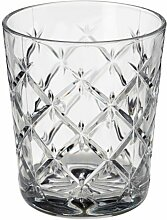 IKEA FLIMRA Glas aus Klarglas; gemustert; (28cl)